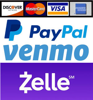 Payment Credit Paypal Zelle Venmo